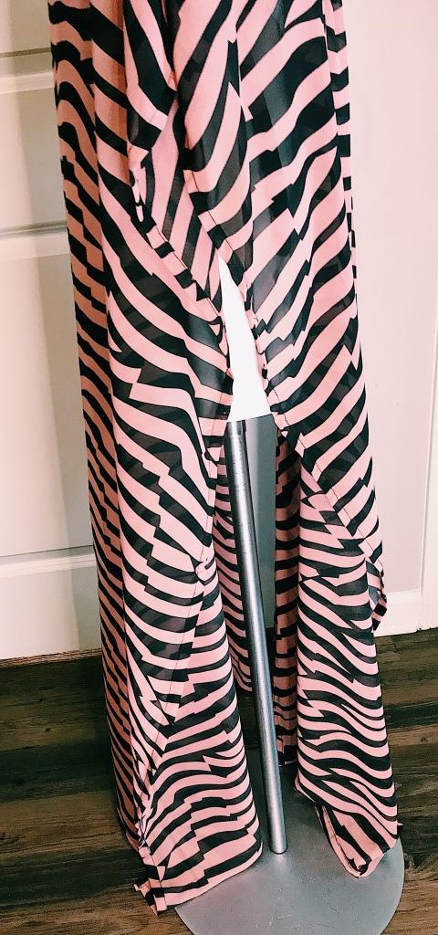 Zebra print chiffon cover up