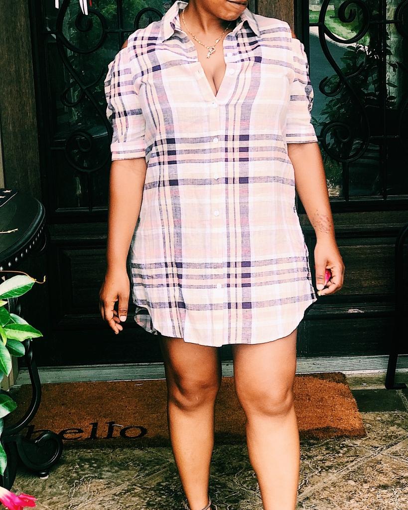 Plaid shirts dress